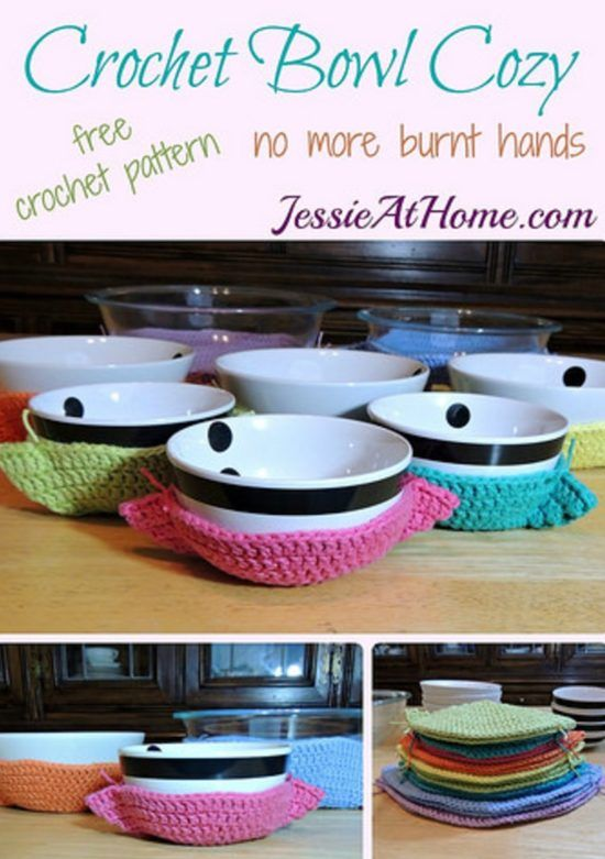 Crochet Bowl Covers Free Patterns And Video | Hogar