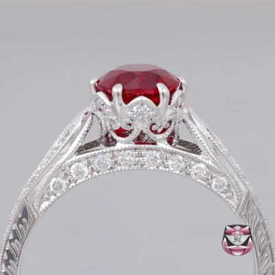 Burma Pidgeon Blood Ruby Engagement Ring JEWELERY Pinterest