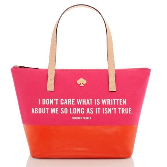 9148e370a63d Kate Spade Dorothy Parker Call to Action Tote Brand-New!..never used Kate  Spade Dorothy Parker Call to Action tote..bright pink canvas with an  awesome ...
