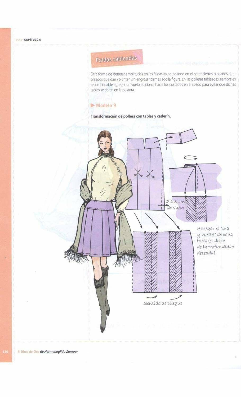 Pin de Damelis Abello en faldas   Pinterest   Costura, El libro de ...