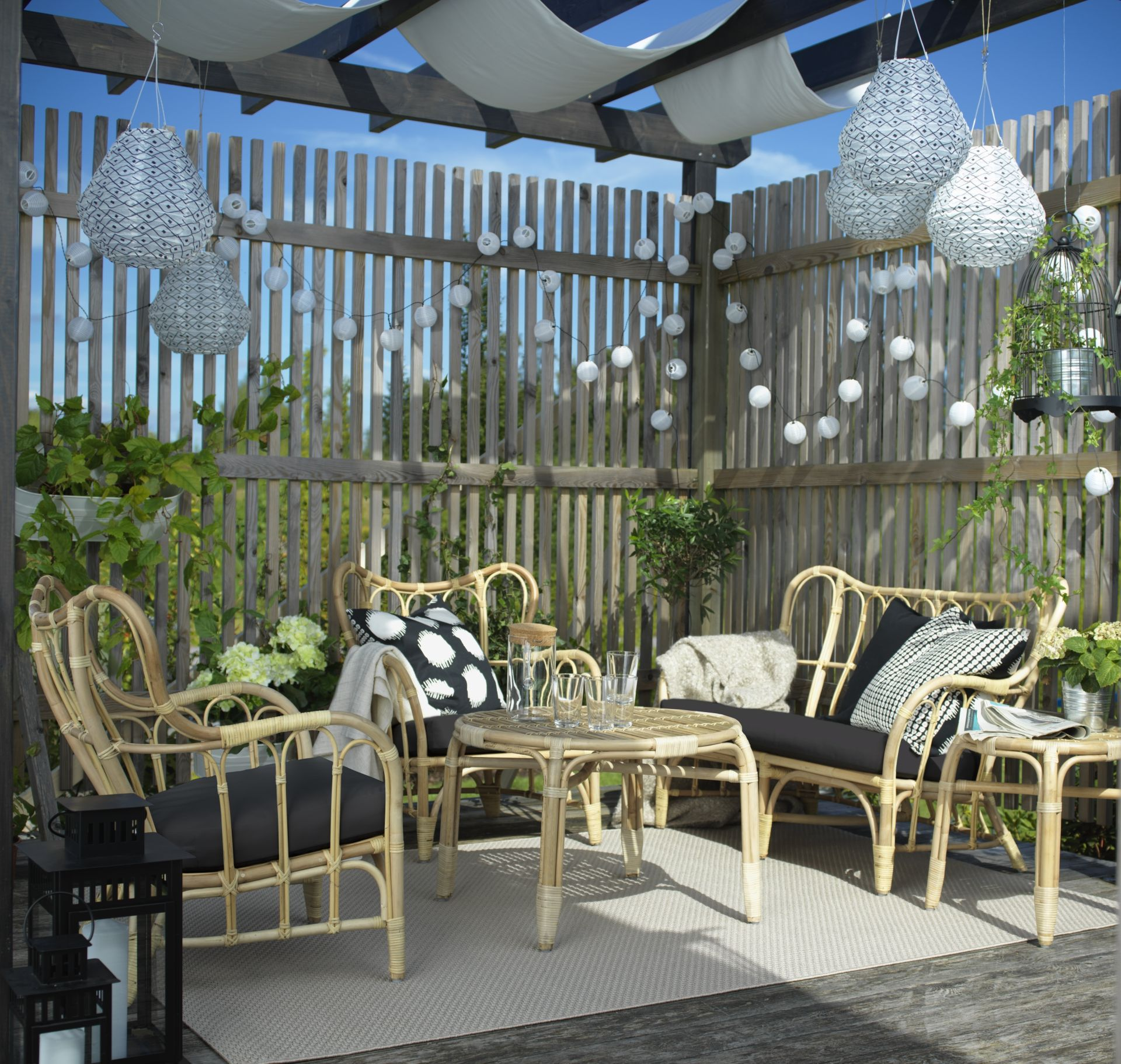 MASTHOLMEN Loungeset 4-zits, rotan | Outdoor living, Gardens and ...
