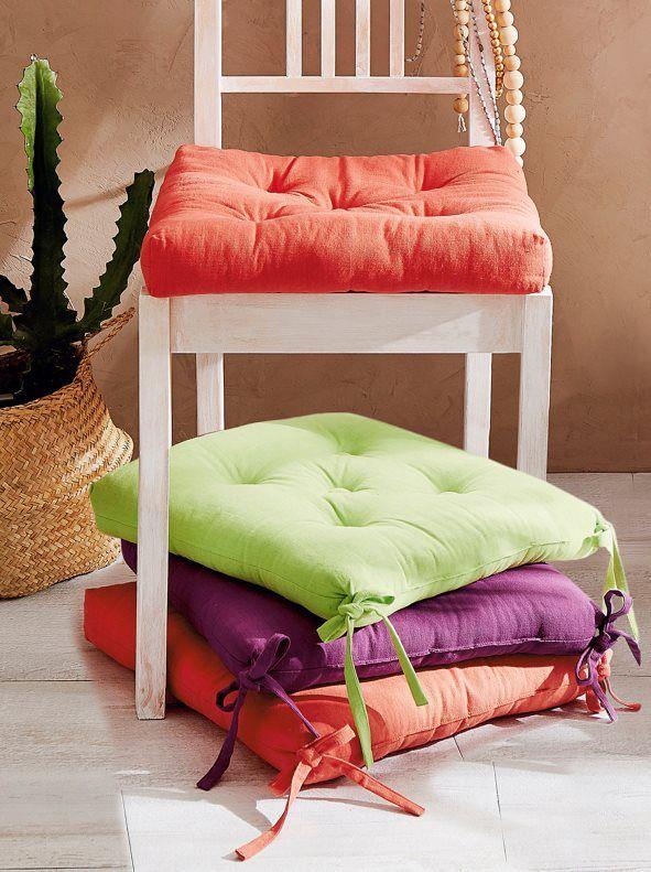 Coj n para silla con lazos y relleno decoraci n del - Almohadones para sillas ...
