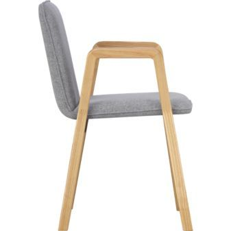 thesi heather grey chair in dining chairs, barstools | CB2