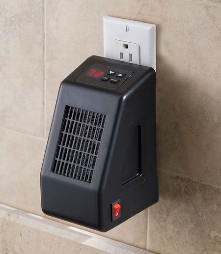 Cordless Wall Outlet Space Heater Heat 250 Sq Ft Room Man Cave Tiny House Space Heater Wall Outlets Home