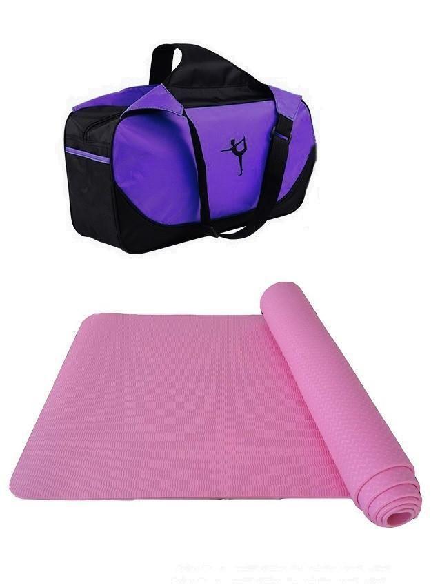 Tpe Yoga Mat For Beginners Anti Slip Sport Mat Non Slip Fitness Mat With Yoga Bag Gym Mat 183 61 6mm 1pc Yoga B Gymnastics Mats Workout For Beginners Best Gym