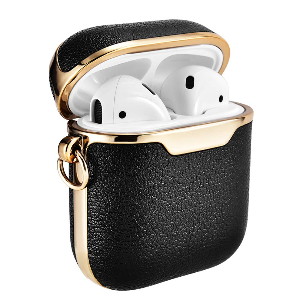 Amazon Com Airpods Case Cover Xoomz Portable Leather Protective Cover Case With Carabiner For Apple A Headphone Accessories Water Proof Case Tech Accessories
