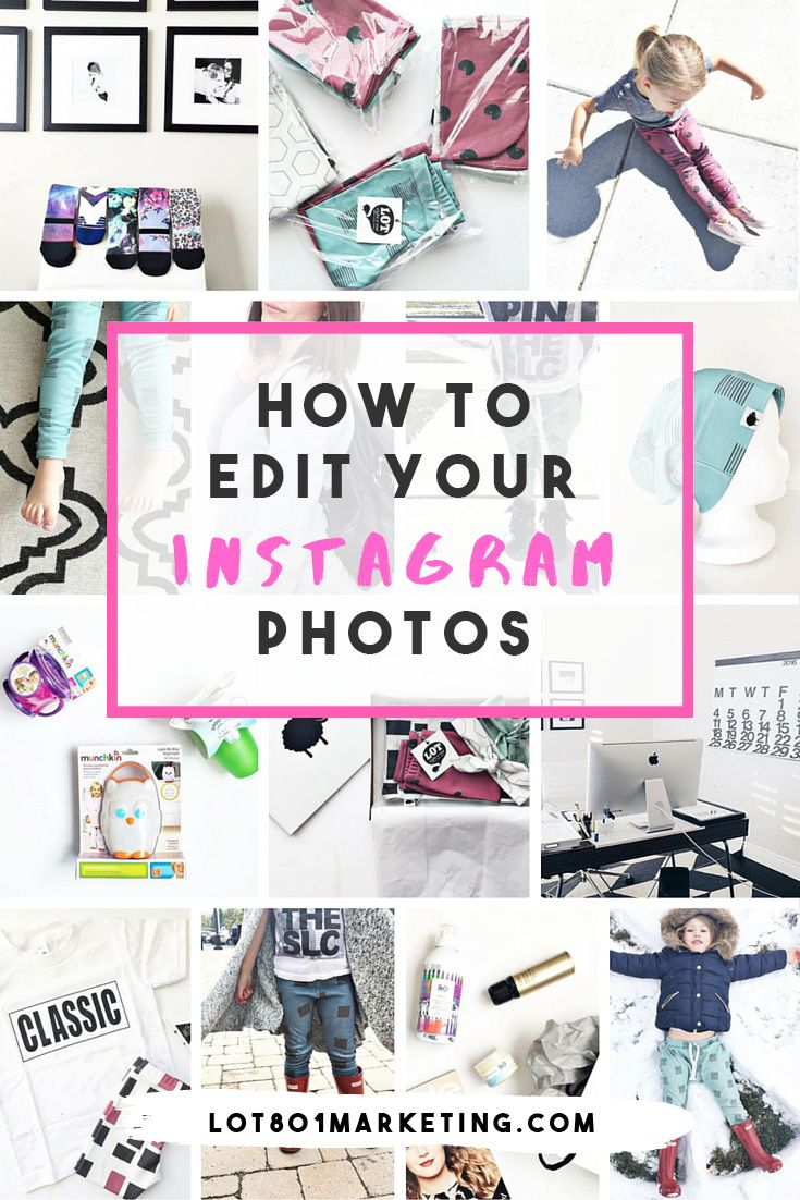 how to edit instagram photos for consistent look