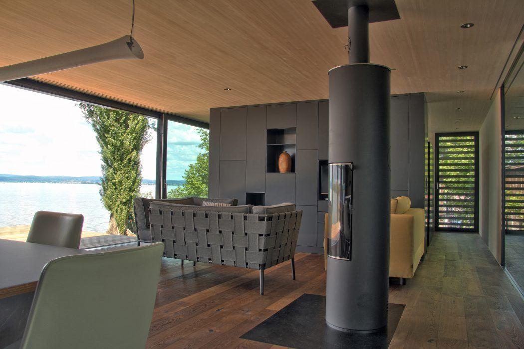 SERENE SWISS LAKE HOUSE BY DRANSFELDARCHITEKTEN SWITZERLAND  @dransfeldarchitekten-ag