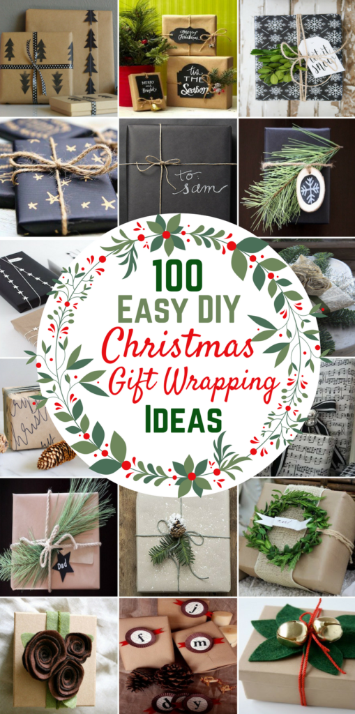 2f9e4d3919f3 100 Easy DIY Christmas Gift Wrapping Ideas