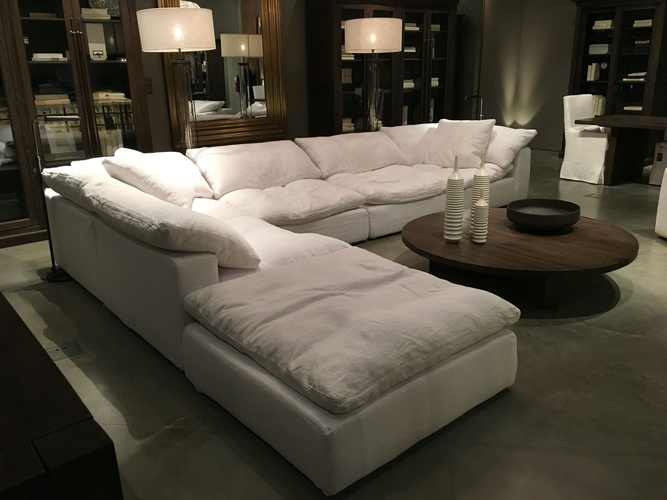 Restoration hardware sectional cloud couch future for Living room ideas 2 couches