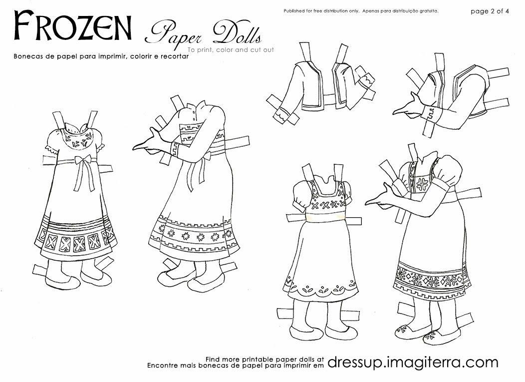 Frozen Paper Dolls Disney Elsa Dress Up Crafts Toys Princess Kid Activities Anna