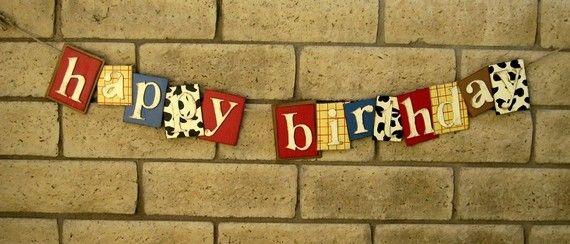 toy story western themed birthday banner (Diy Birthday Banner)