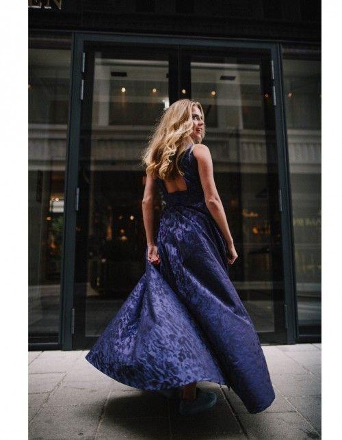 Roberta Maxi Kleid hergestellt aus italienischem Jacquard mit ...