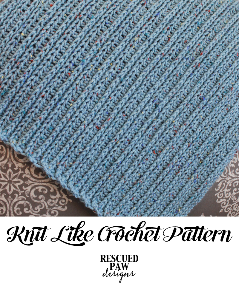 Knit Like Crochet Blanket Pattern (FREE) // Rescued Paw Designs