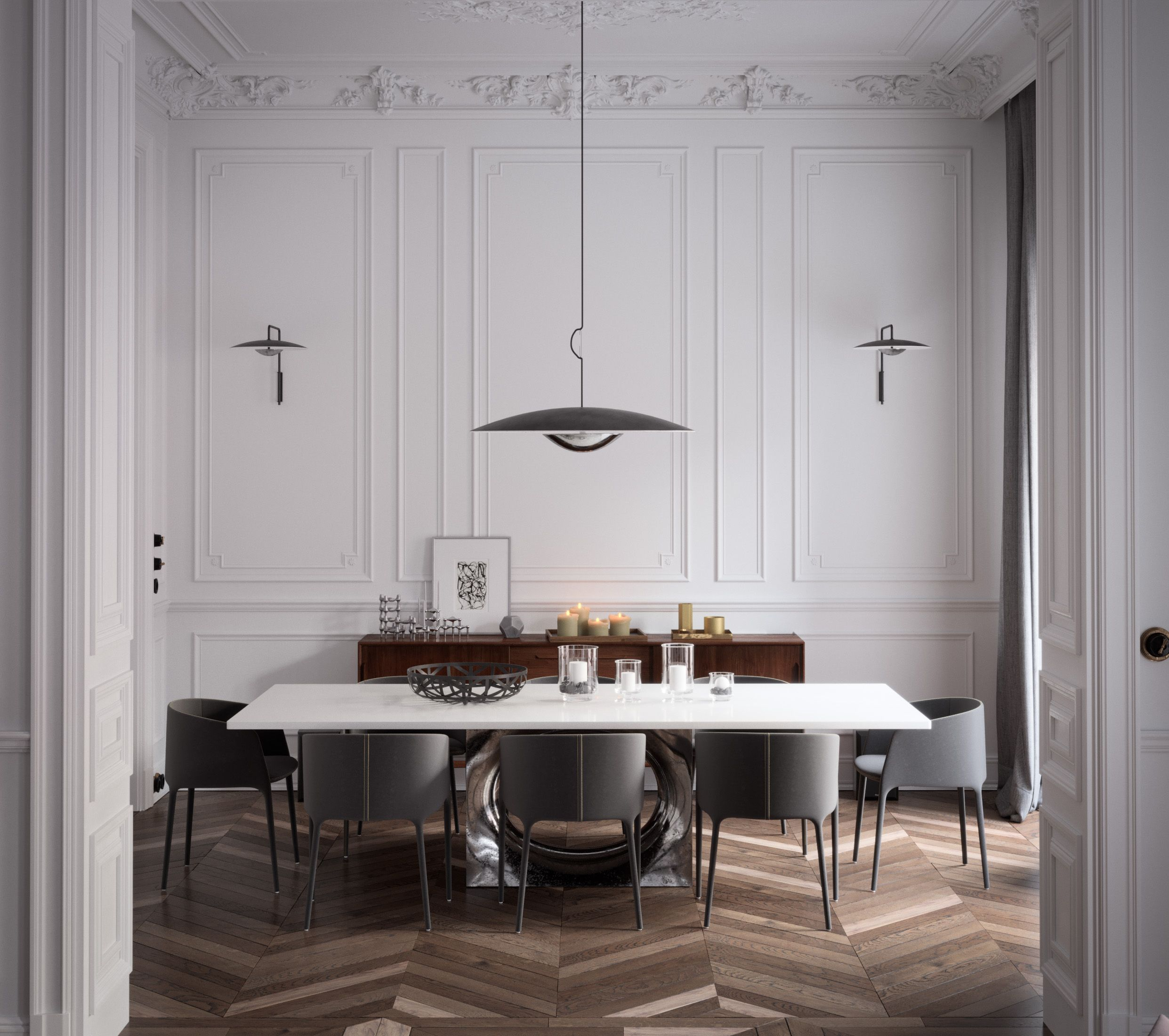 Architect White Castle Dawid Przewozny Achille Dining Chairs By