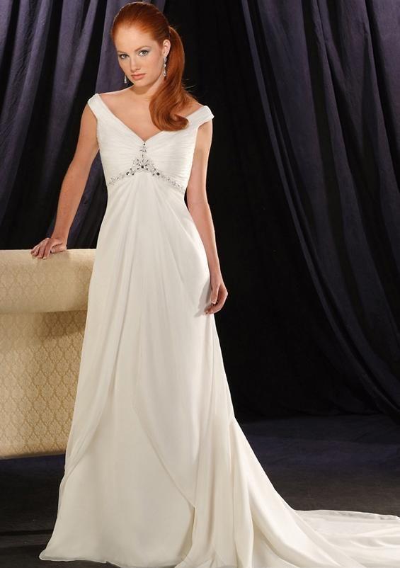 Wedding Dresses Mermaid For Curvy Women Empirev Neckcathedral Satin Bridal Gowns