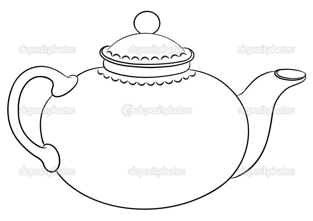 Teapot Coloring Page Teapot Coloring Page Printable Page 1 Gallery