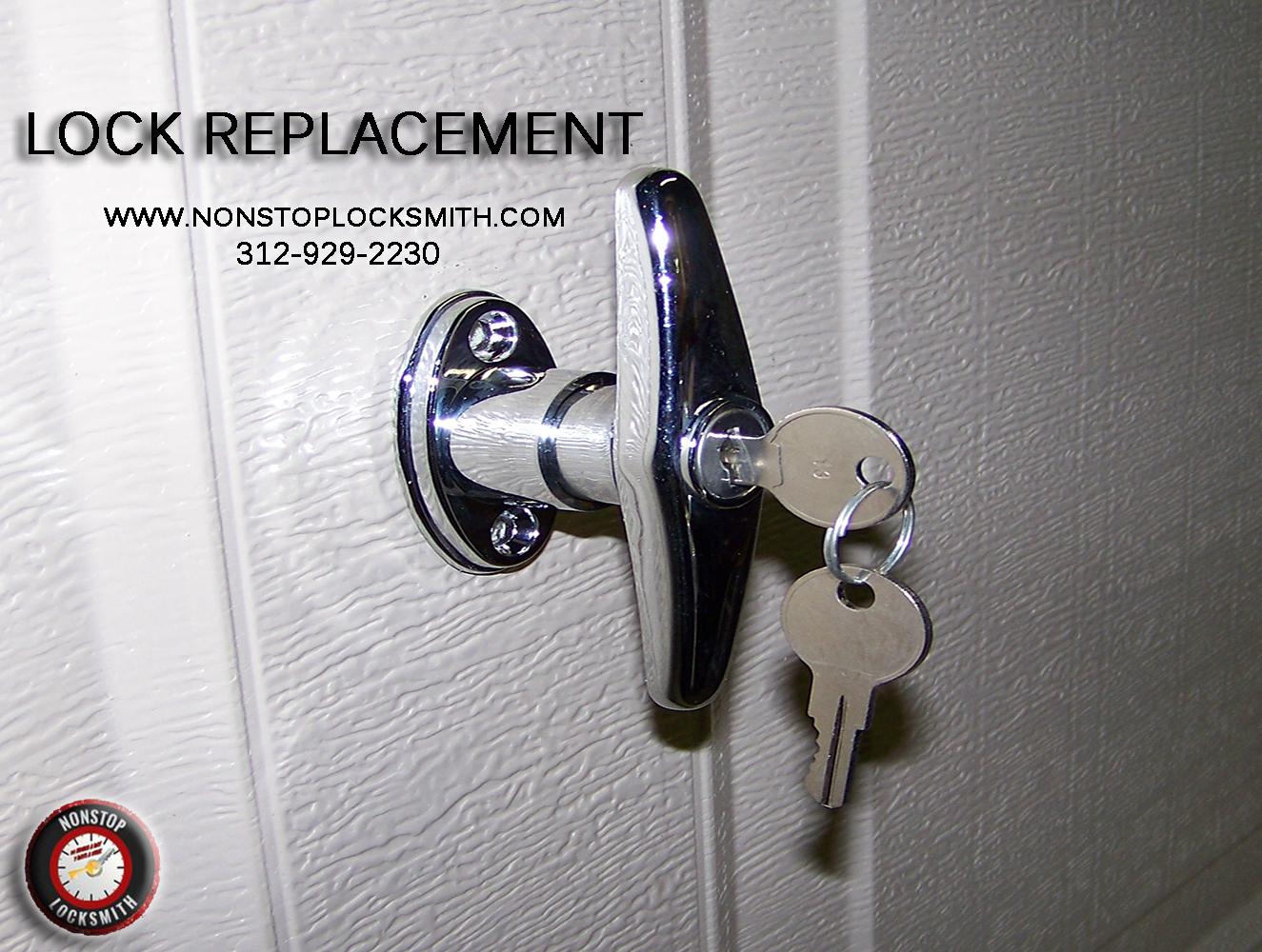 Lock Replacement Nonstop Locksmith Company Located In Chicago Illinois Is Bbb And Aloa Accredited Licensed Experi Garage Door Lock Garage Doors Door Locks
