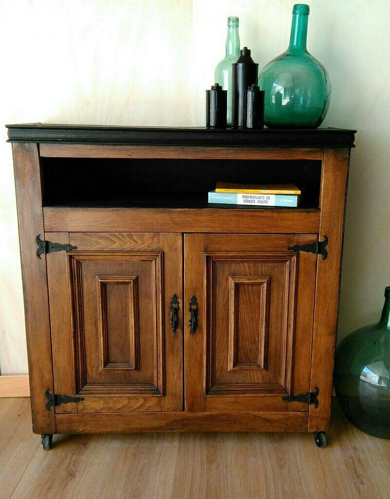 Mueble para entrada estilo INDUSTRIAL. También renovado hace tiempo ...