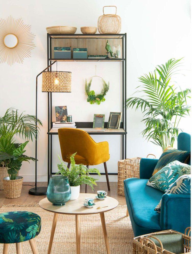 Maisons Du Monde Collection Automne 2018 Decoration Canape Bleu Deco Maison Idee Deco Maison