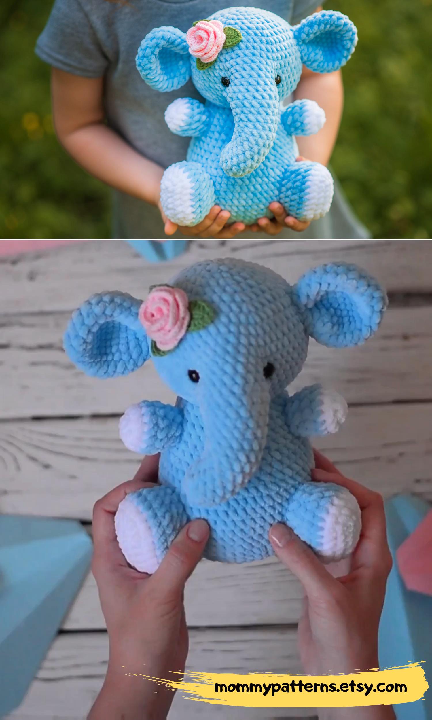 PATTERN: Ellis the Elephant - crochet elephant - amigurumi ... | 2500x1500