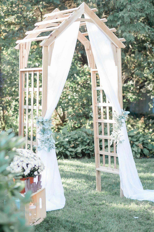 Diy Backyard Wedding In Syracuse Backyard Wedding Diy Backyard