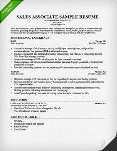Sales Associate Resume Interesting Salesassociateresumesample  Career  Pinterest