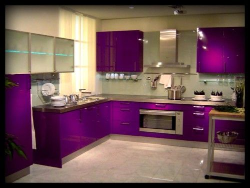 Purple Vinyl For Colour Changing Kitchen Cabinets Inc