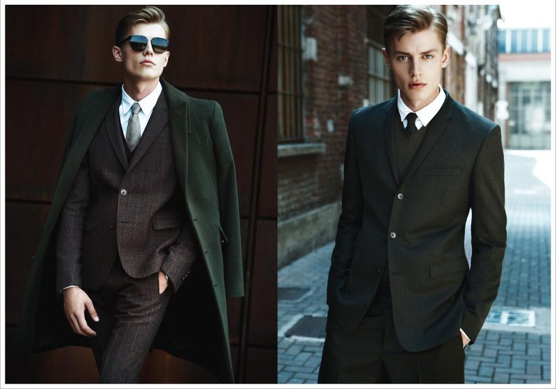 Janis Ancens is Military Chic for Italian GQ