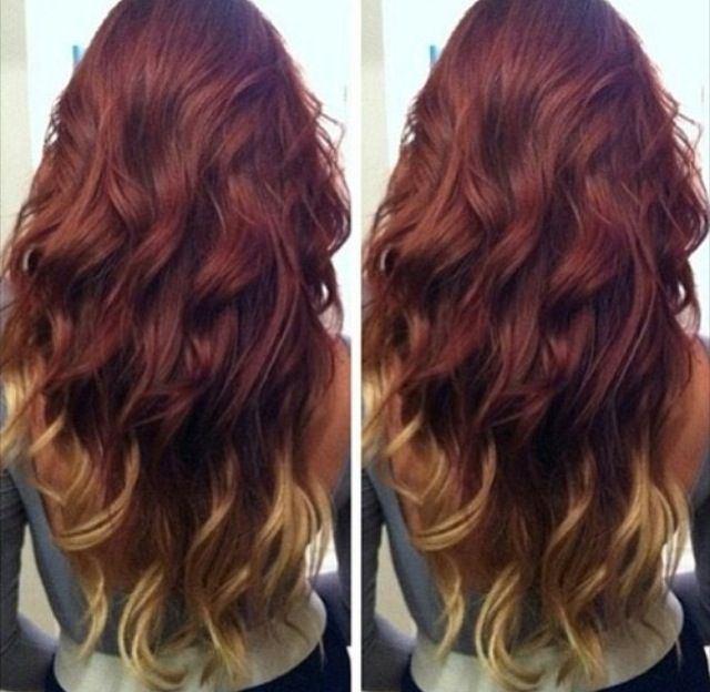 dark auburn to caramel ombre - Google Search | Hair ...