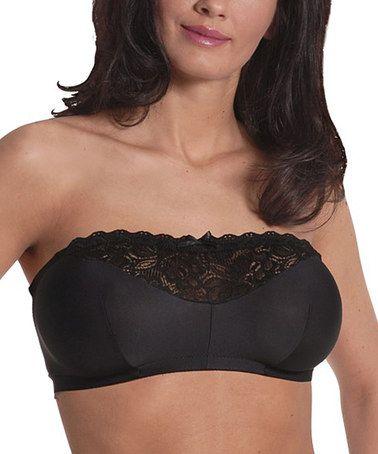 7302083c4c Black Lace Wireless Strapless Bra - Women   Plus by Carole Martin®   zulilyfinds