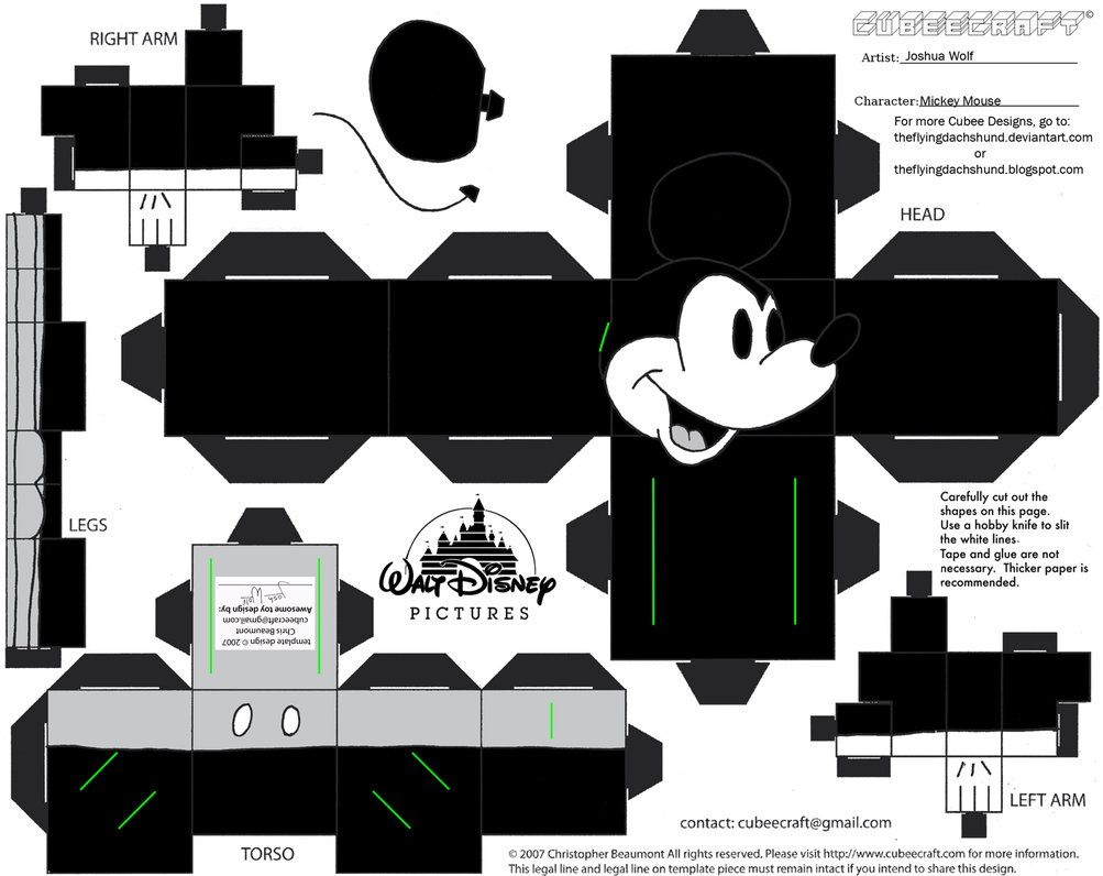 Dis1 Mickey Mouse Cubee By TheFlyingDachshund On DeviantART