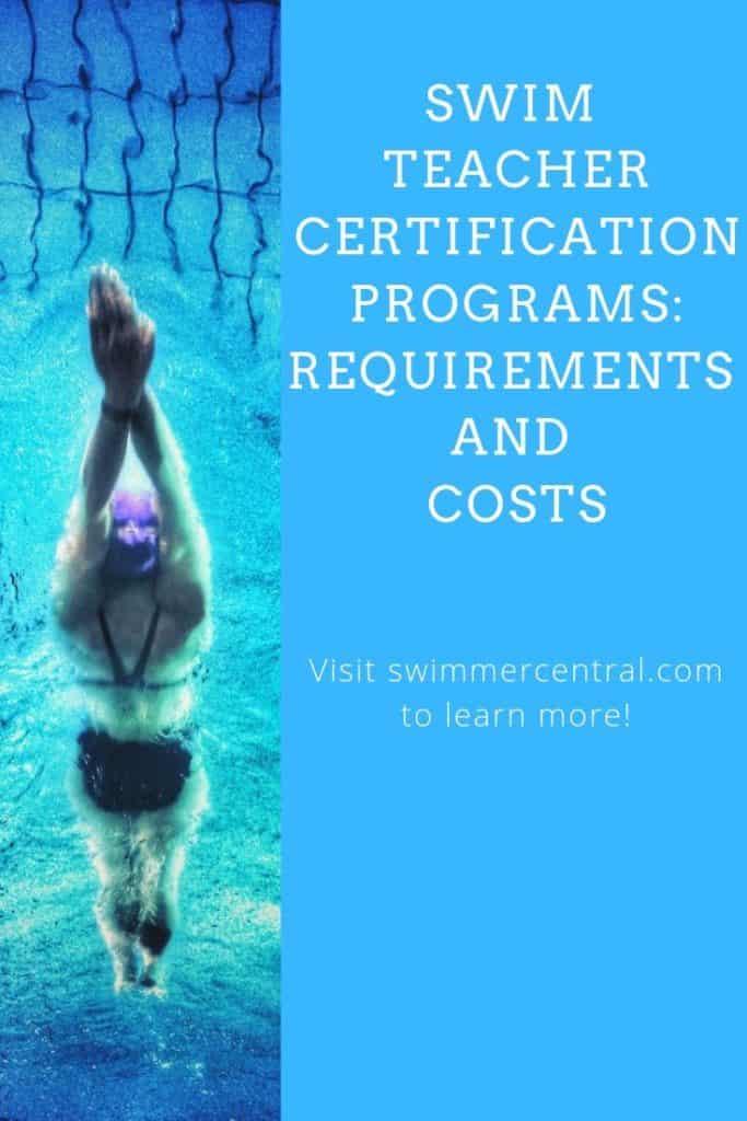 Swim Teacher Certification Programs Requirements Cost Swim Swimming Swimlessons Swimcoach In 2020 Teacher Certification Swim Lessons Swimming