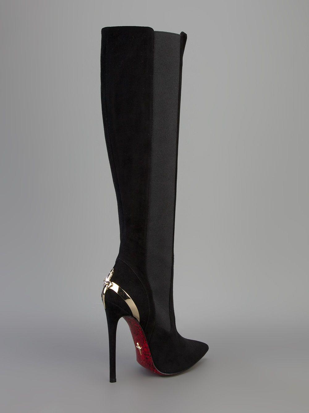 69102e77e7 Cesare Paciotti women's 'Dagger' knee-high boots   Da Bomb Boots in ...