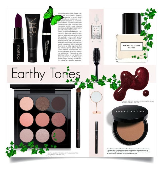 """""""Earthy Tones"""" by alexandrazeres ❤ liked on Polyvore featuring beauty, MAC Cosmetics, Marc Jacobs, Bobbi Brown Cosmetics, Smashbox, Max Factor, GHD, Bloomingville, Anja and makeup"""