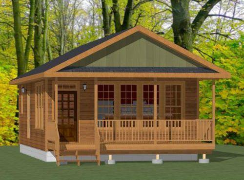 20x32 Tiny House -- #20X32H4D -- 640 Sq Ft