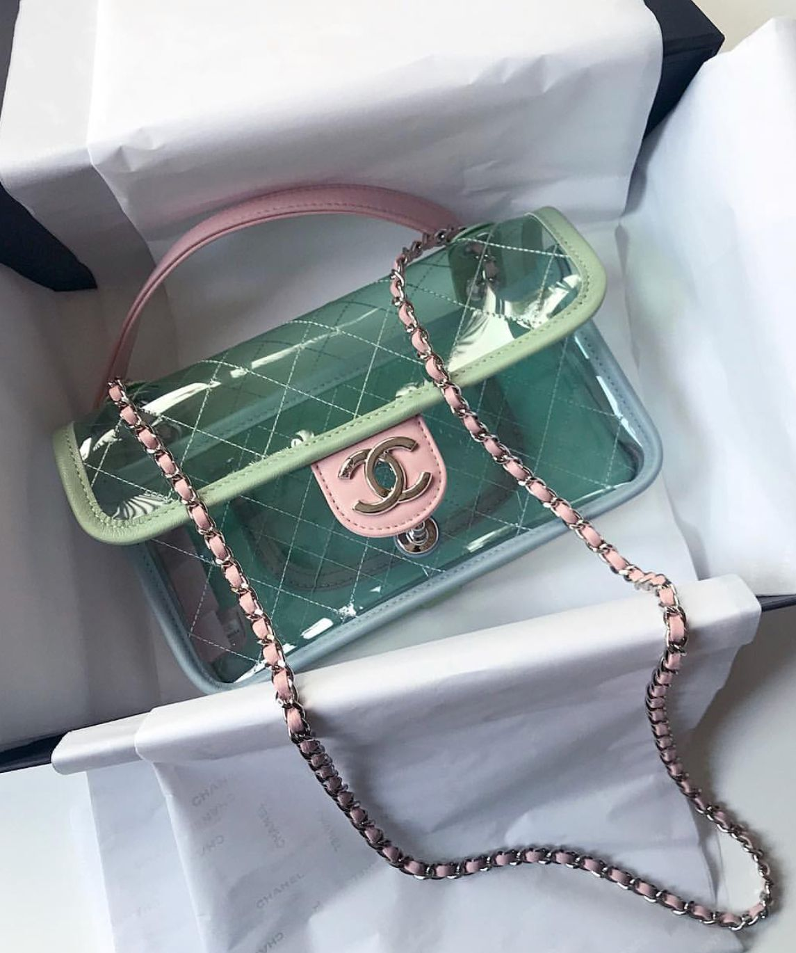 663ad87b5d58 Chanel vinyl flap bag. Hot items in summer