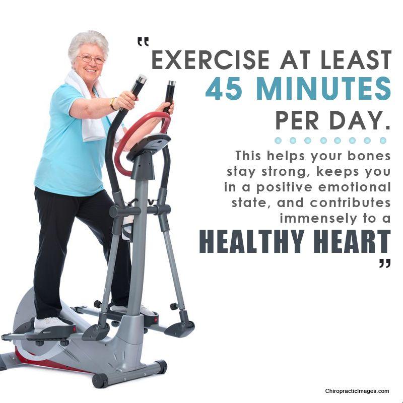 Jeden Tag 45 Minuten Sport und wenn es nur spazieren ist, hilft dass Ihre Knochen stark bleiben und Sie sich wesentlich poitiver und ausgeglichener Fühlen und außerdem tun Sie dann auch noch etwas gutes für Ihr .. Also ran an den Sport.