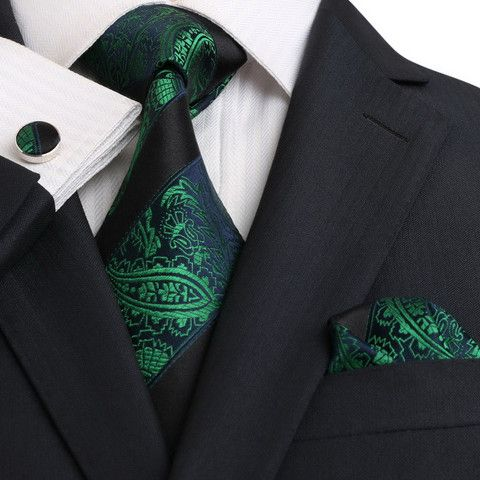 Blue,Green and Black Silk Necktie Set JPM18E14 – Toramon Necktie Company
