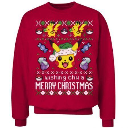 Pokemon Christmas Sweater.Pin On A Pokemon Christmas
