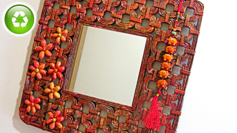 DIY: Cómo hacer un marco hecho con papel. How to make paper frame ...