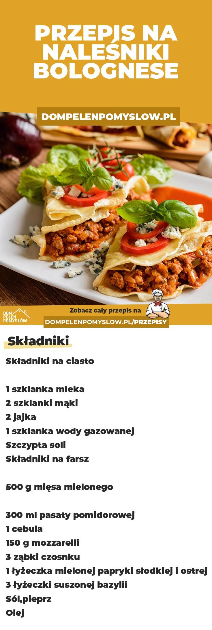 Nalesniki Bolognese Workout Food Food Inspiration Culinary Recipes