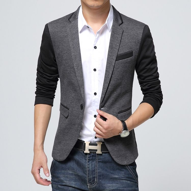 eaa0d4b20fe 2015 Spring and Autumn new men s jacket Korean tidal Slim thin stitching  yards suit casual suit G3- Taobao