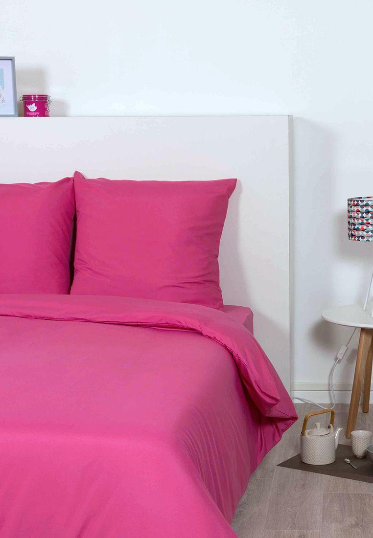 Idée déco pour une chambre tropciale - Taies d\'oreillers rose fushia ...