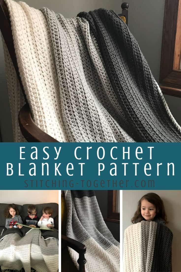Simple Half Double Crochet Blanket   Stitching Together