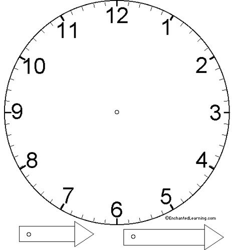 Basic Clock Face Template  Face Template Clock Faces And Clocks