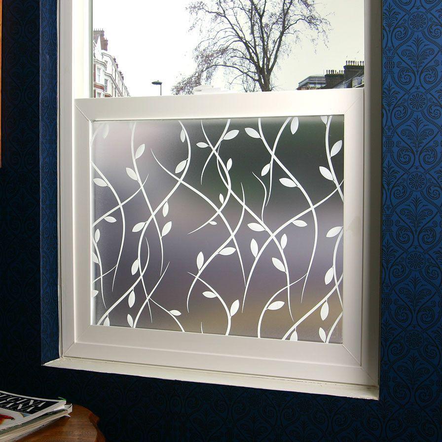 Vines decorative window film trucs d coration pinterest salle de bain rideaux et maison - Film fenetre salle de bain ...