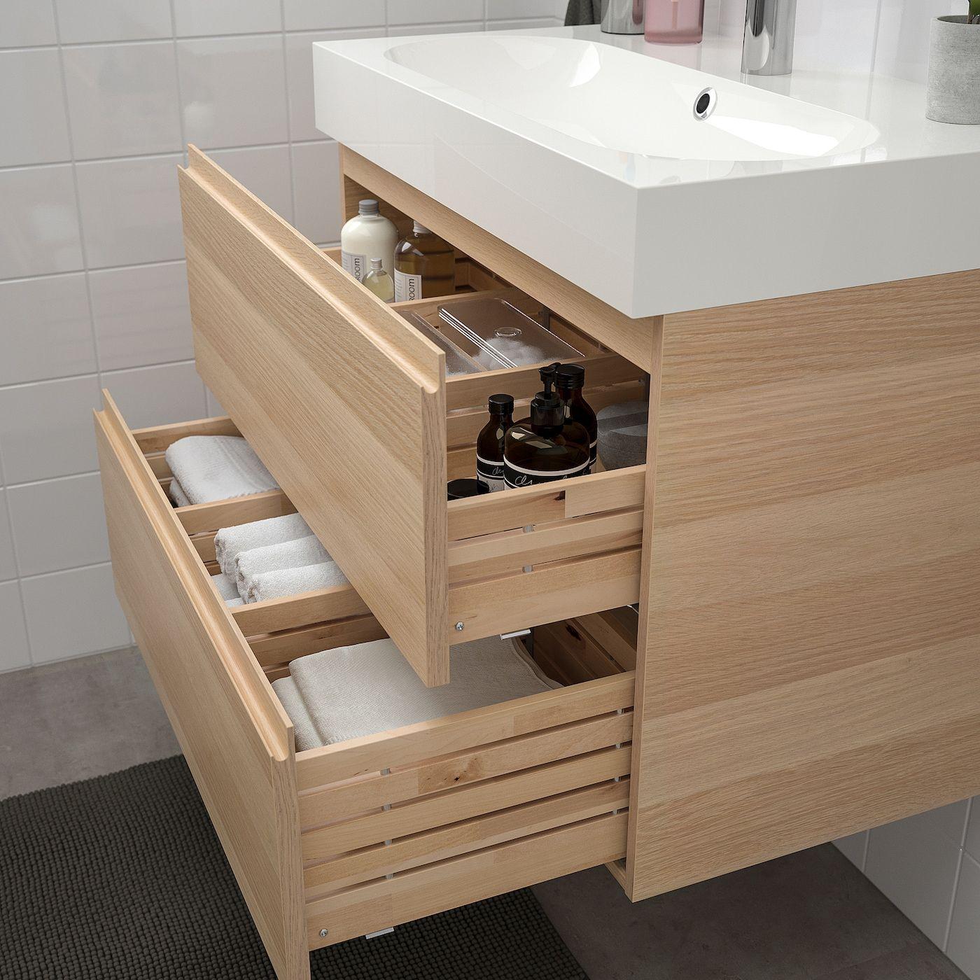 Godmorgon Braviken Waschbeckenschrank 2 Schubl Eicheneff Wlas Brogrund Mischbatterie Ikea Osterreich In 2020 Bad Einrichten Waschbeckenschrank Mischbatterien