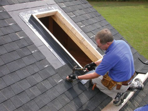 How To Install A Skylight Hometips Com In 2020 Skylight Installation Diy Skylight Velux Skylights