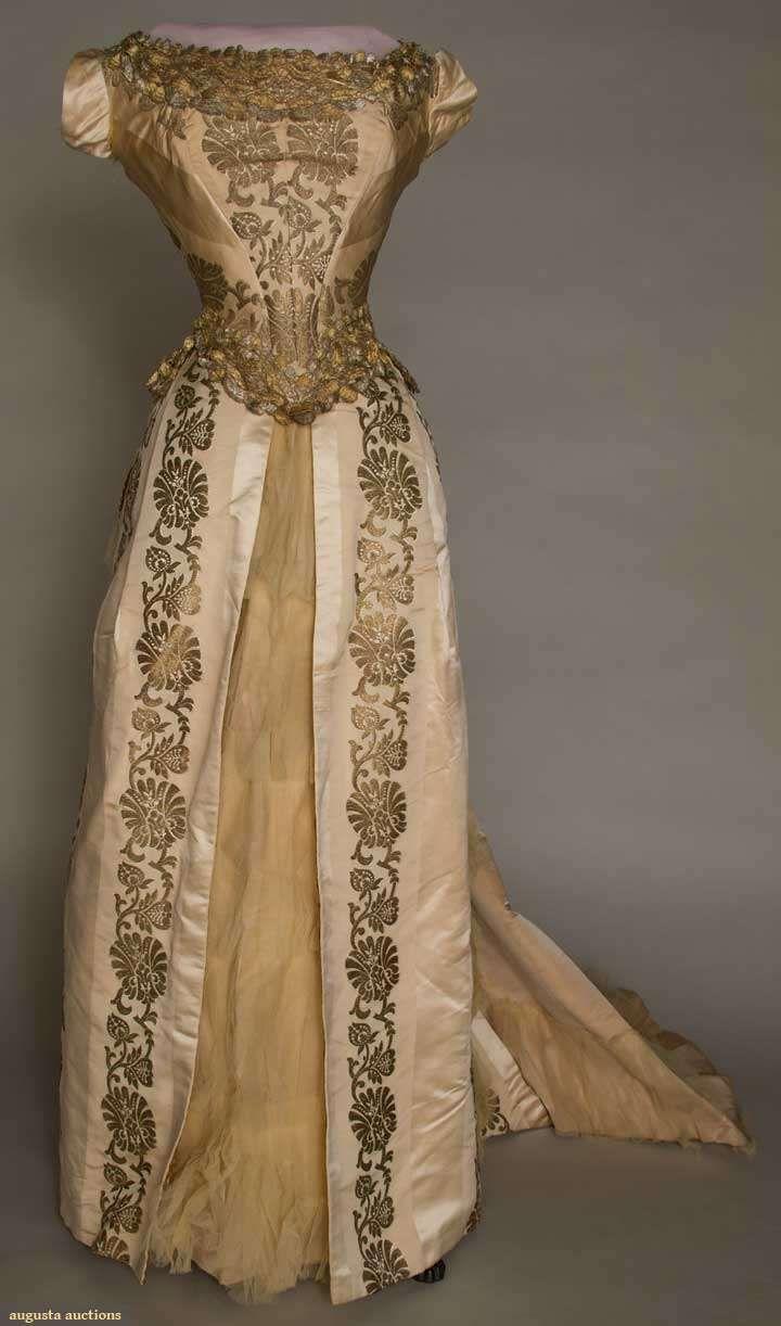 ball gown piece alternating faille u satin cream silk wide
